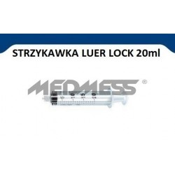 PIC Solution Strzykawka 20 ml LUER LOCK, 100 szt