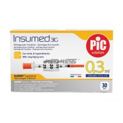 Strzykawki insulinowe INSUMED 0,3 ml G31x8mm 30 szt