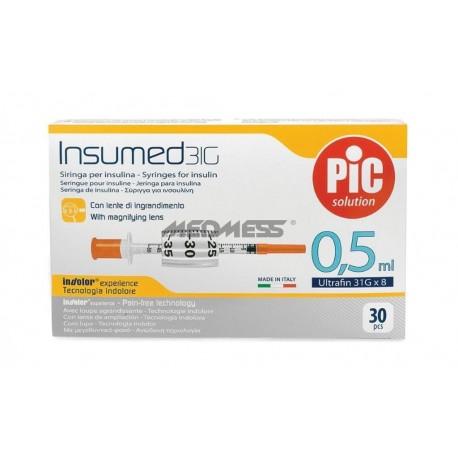 Strzykawki insulinowe INSUMED 0,5 ml G31x8mm 30 szt