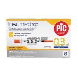 Strzykawki insulinowe INSUMED 0,3 ml G30x8mm 30 szt