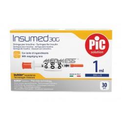 Strzykawki insulinowe INSUMED 1 ml G30x8 mm 30 szt