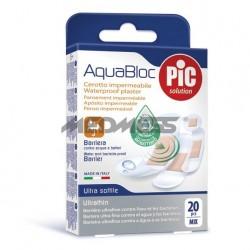 PIC Solution Plastry AQUABLOC ASSORTED-ZESTAW antybakteryjne 20 szt