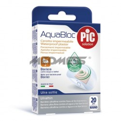 PIC Solution Plastry AQUABLOC round okrągłe antybakteryjne 20 szt