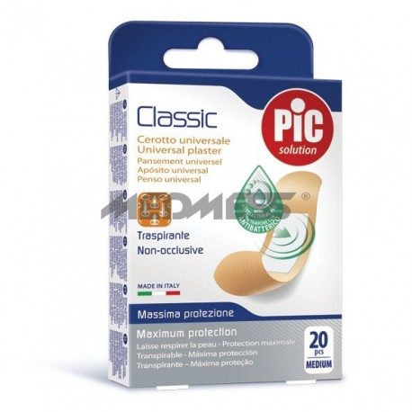 PIC Solution Plastry CLASSIC 19x72mm antybakteryjne 20 szt