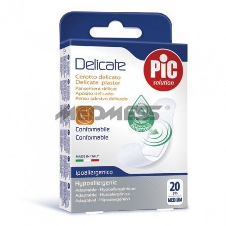 PIC Solution Plastry DELICATE 19x72mm antybakteryjne 20 szt