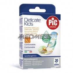 PIC Solution Plastry DELICATE KIDS 19x72mm antybakteryjne 20 szt