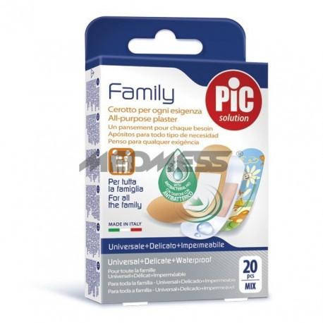 PIC Solution Plastry Family antybakteryjne 20 szt