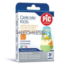 PIC Solution Plastry DELICATE KIDS 19x72mm 20 szt