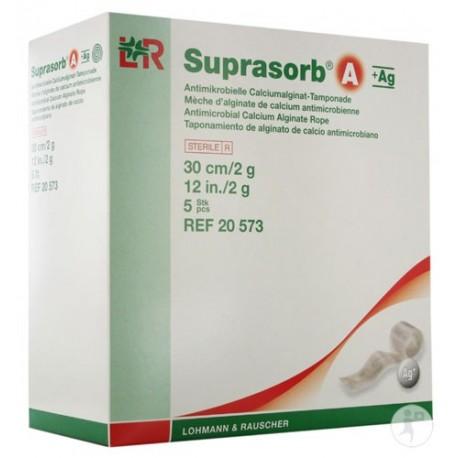 Suprasorb A + Ag Tamponada sterylna z alginianu wapnia ze srebrem 30 cm, 2g, pakowana pojedynczo