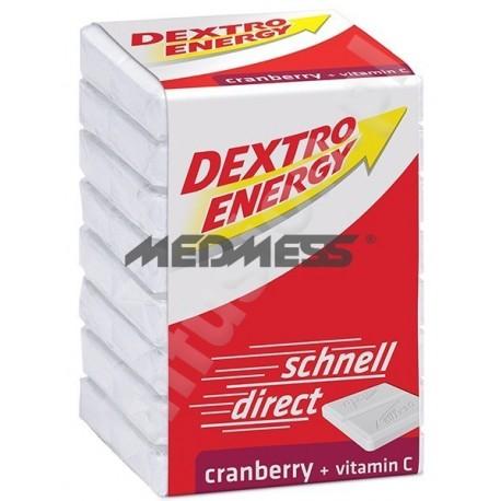 Dextro Energy o smaku żurawinowym z witaminą C 46g - glukoza w tabletkach