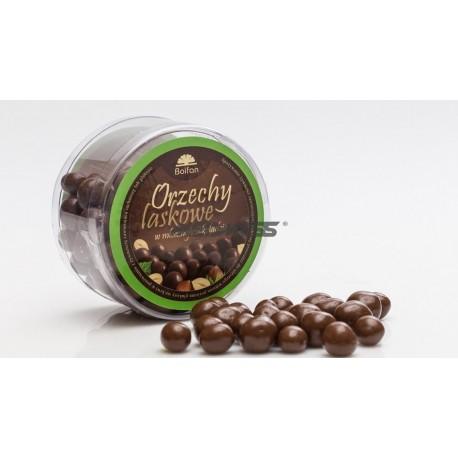 Orzechy laskowe w mlecznej czekoladzie -  180g