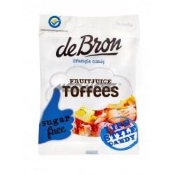Cukierki Toffee nadziewane sokiem owocowym bez glutenu 90g