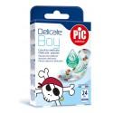 PIC Solution Plastry DELICATE KIDS BOY dla chłopca 19x72mm antybakteryjne 20 szt