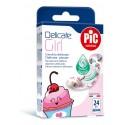 PIC Solution Plastry DELICATE GIRL dla dziewczynki 19x72mm 20 szt