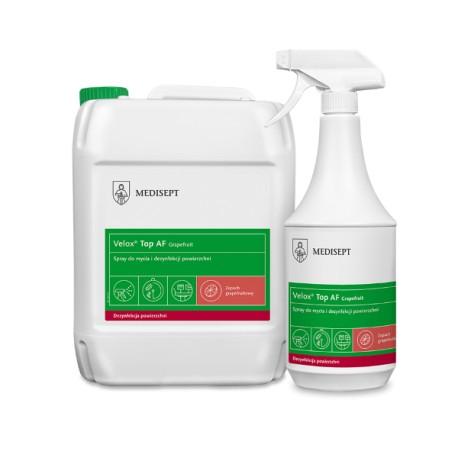 Velox Top AF Grapefruit - Alkoholowy płyn do mycia i szybkiej dezynfekcji