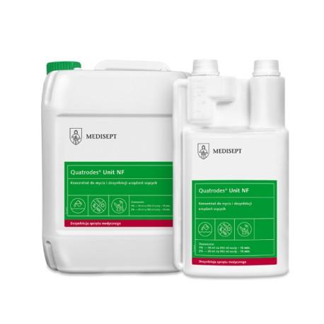 Quatrodes Unit NF preparat do mycia i dezynfekcji systemów ssących, separatorów amalgamatu i misek unitu stomatologicznego
