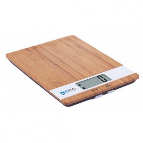 OROMED waga kuchenna z drewna bambusowego ORO-KITCHEN SCALE WHITE