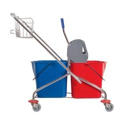 MEDISEPT Wózek dwuwiaderkowy 2 x 23 l z koszyczkiem