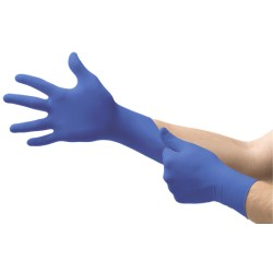 Ansell Micro-Touch Blue NItrile 200 szt nitrylowe rękawiczki rękawice diagnostyczne bezpudrowe