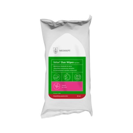 Velox Duo Wipes - Alkoholowe chusteczki do mycia i szybkiej dezynfekcji