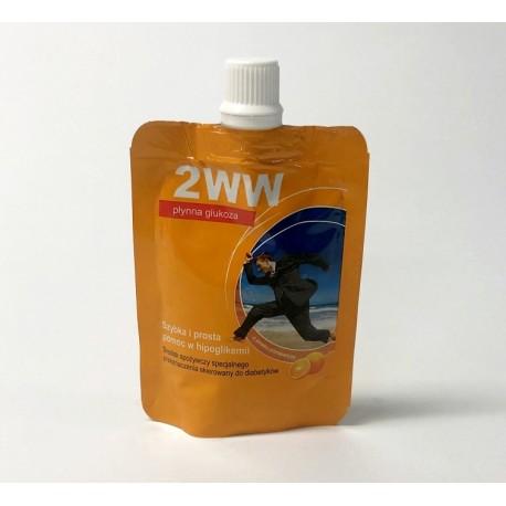 1WW - Płynna glukoza o smaku pomarańczowym - 10 saszetek x 12ml