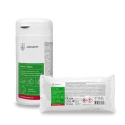 Velox Duo Wipes Tea Tonic - Alkoholowe chusteczki do mycia i szybkiej dezynfekcji - 50 szt.