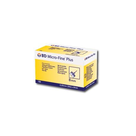 BD Micro-Fine Plus igły do wstrzykiwaczy 0,30mm (30G) x 8mm