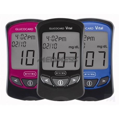 Glukometr Glucocard VITAL (zestaw glukometr + nakłuwacz + 10 igiełek +10 pasków)