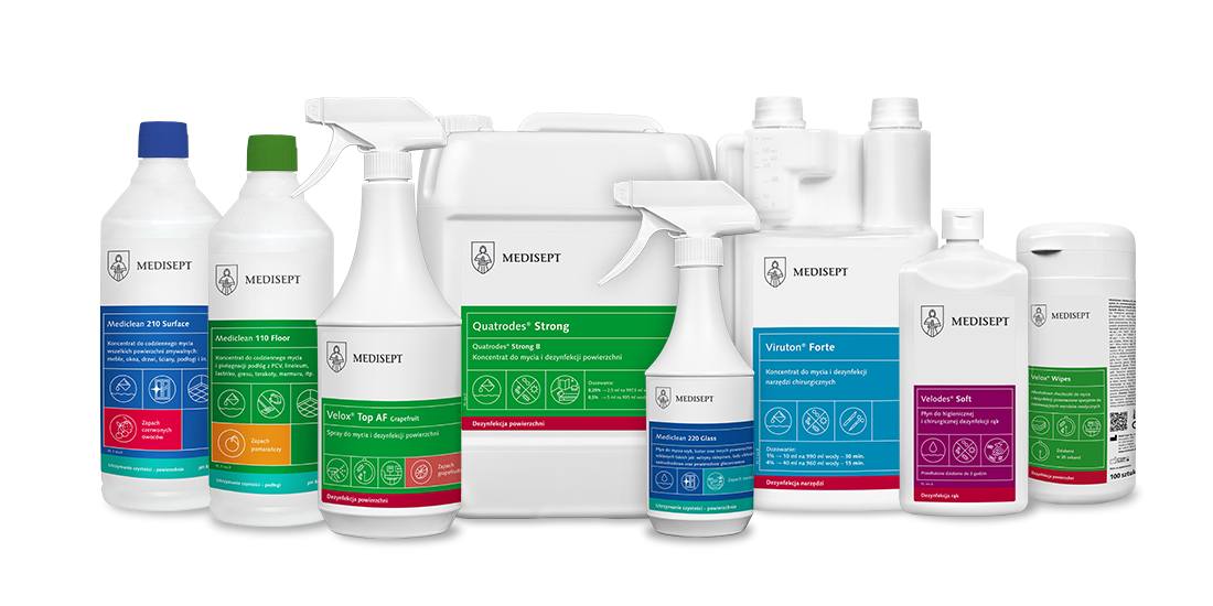 Produkty profesjonalne Szeroka gama produktów do dezynfekcji i zachowania czystości nawet w najbardziej wymagającym otoczeniu.